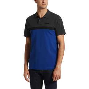 Thumbnail 2 of Essentials+ Stripe Men's Polo, Sodalite Blue, medium