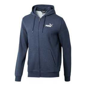Thumbnail 1 of Essentials+ Men's Fleece Hooded Jacket, Peacoat Heather, medium