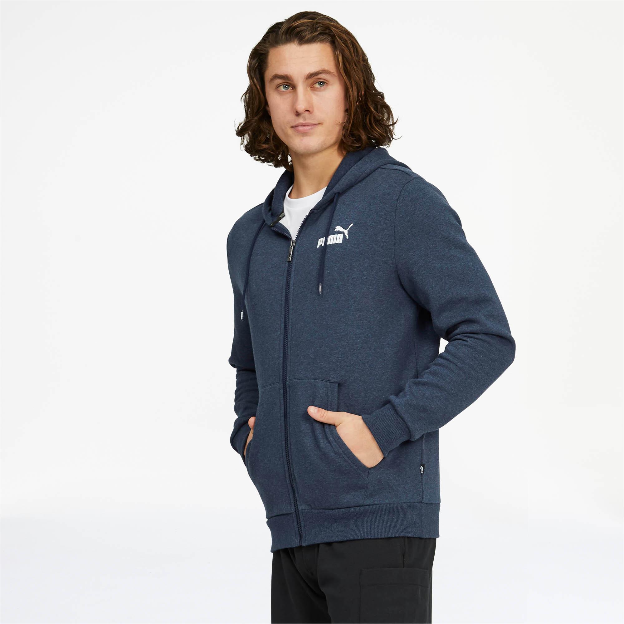 PUMA-Essentials-Men-039-s-Fleece-Hooded-Jacket-Men-Sweat-Basics thumbnail 4
