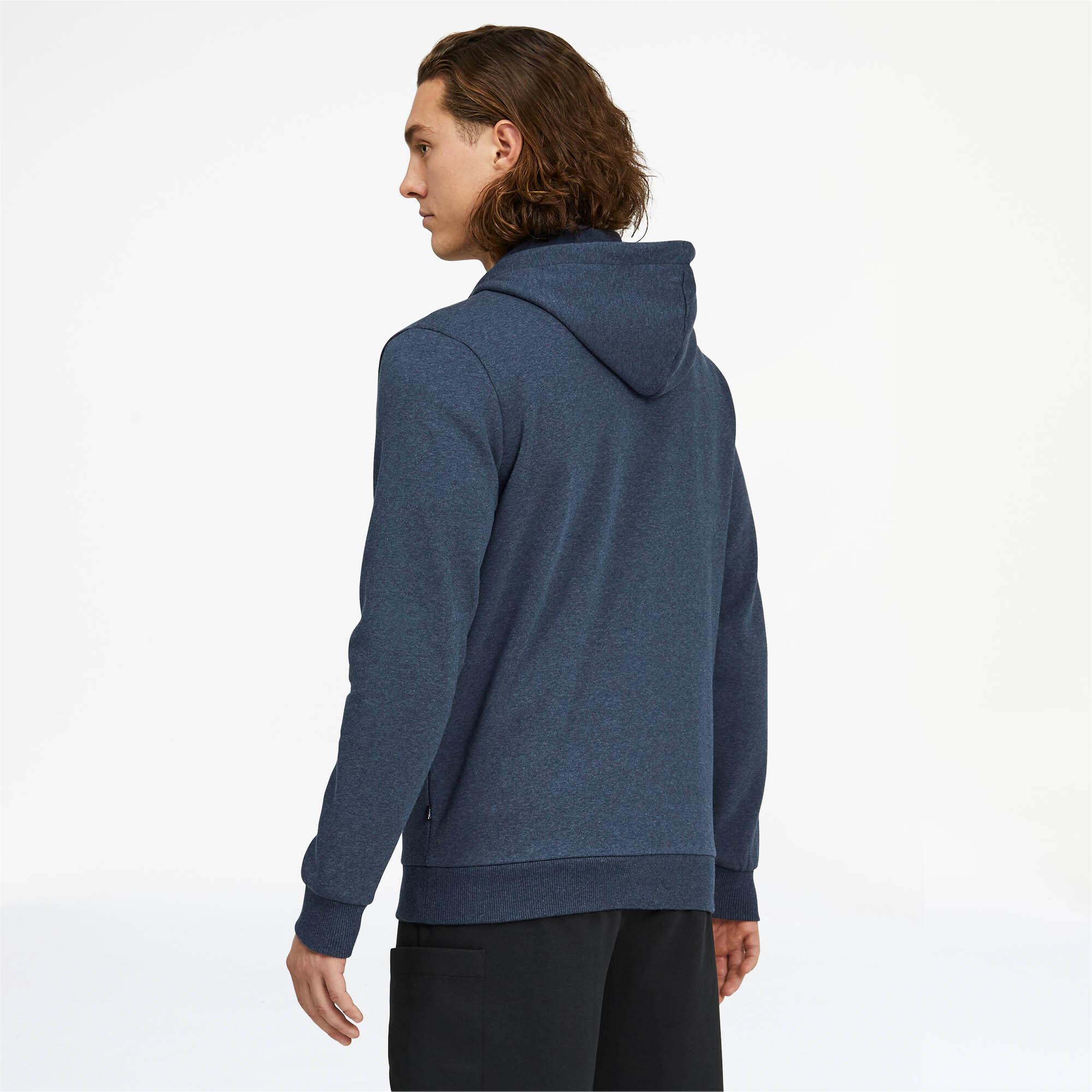 PUMA-Essentials-Men-039-s-Fleece-Hooded-Jacket-Men-Sweat-Basics thumbnail 5