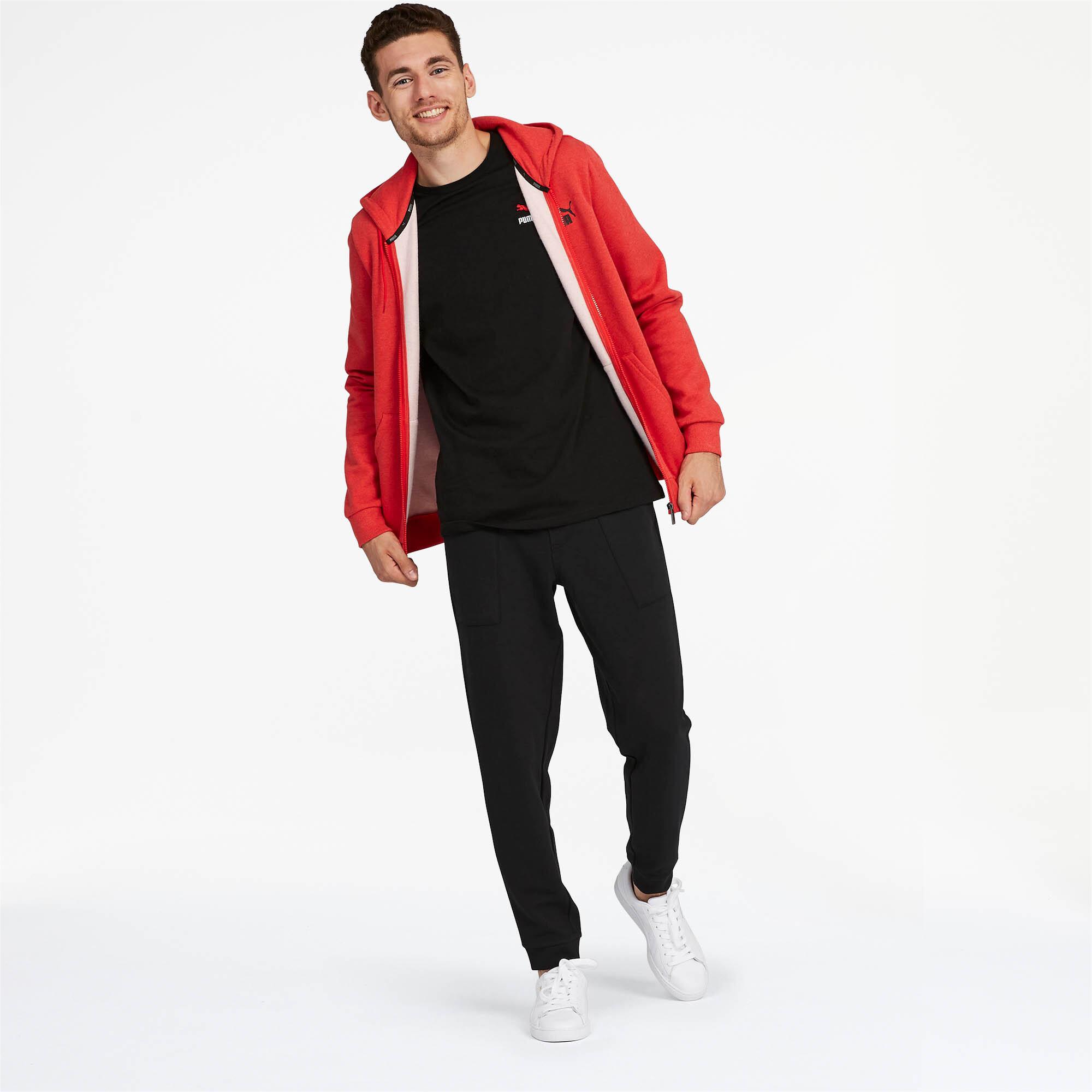 PUMA-Essentials-Men-039-s-Fleece-Hooded-Jacket-Men-Sweat-Basics thumbnail 13