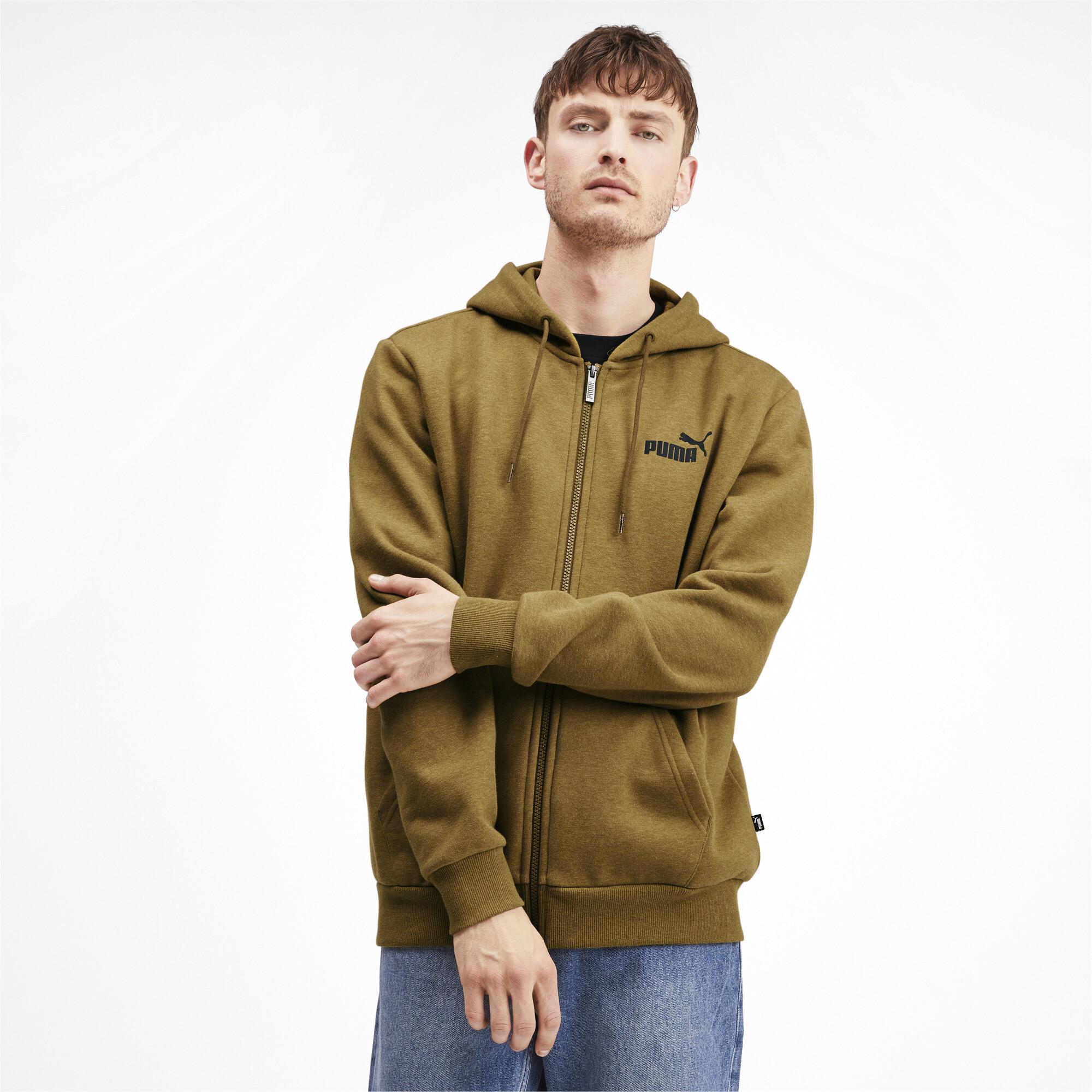 PUMA-Essentials-Men-039-s-Fleece-Hooded-Jacket-Men-Sweat-Basics thumbnail 22