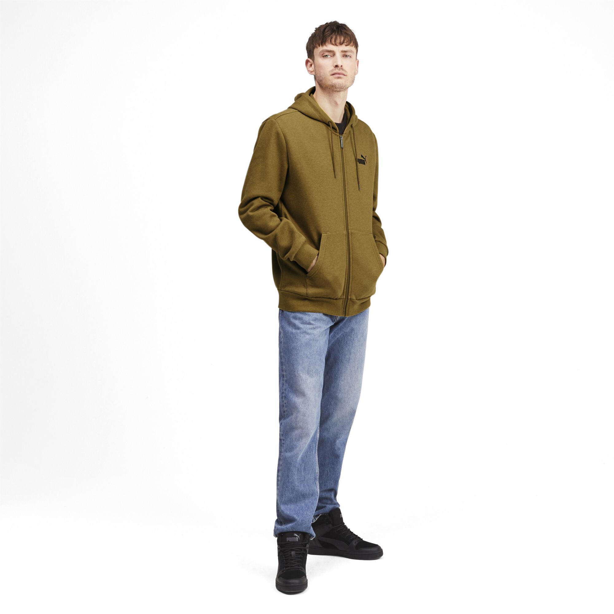 PUMA-Essentials-Men-039-s-Fleece-Hooded-Jacket-Men-Sweat-Basics thumbnail 24