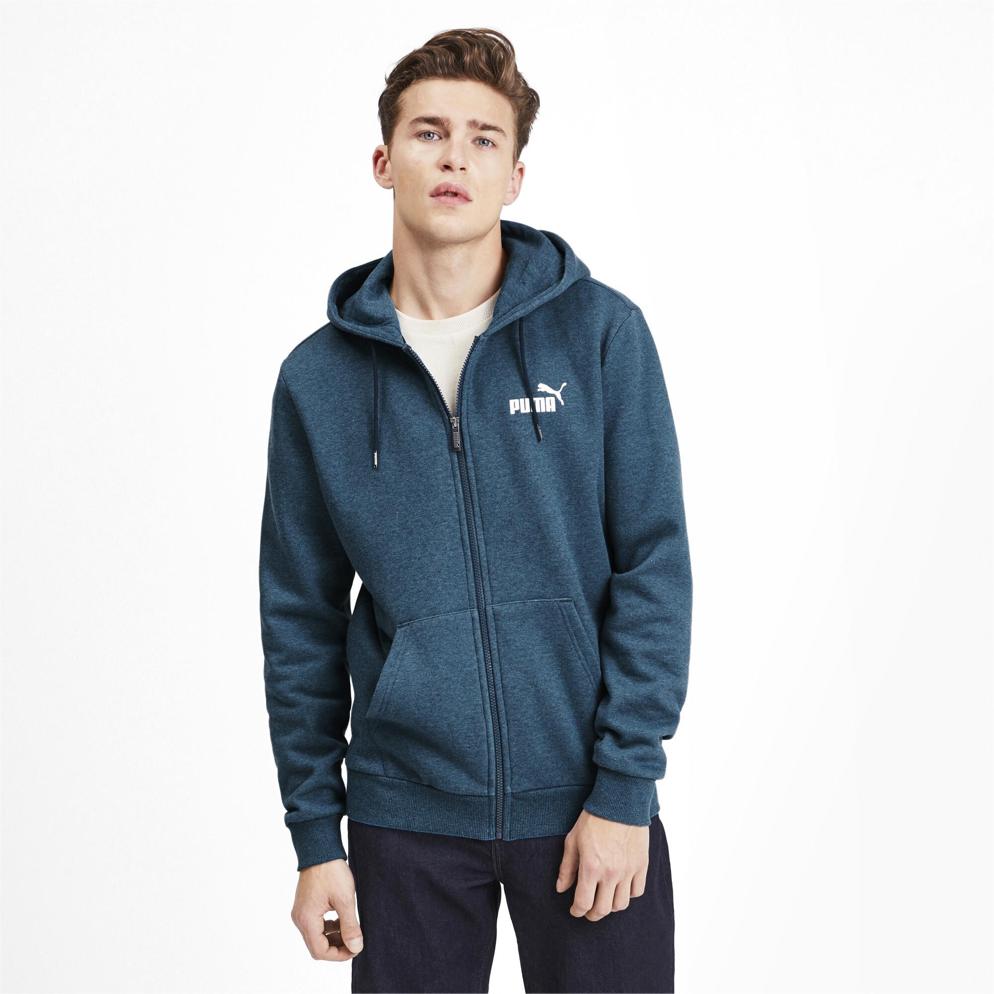 PUMA-Essentials-Men-039-s-Fleece-Hooded-Jacket-Men-Sweat-Basics thumbnail 17