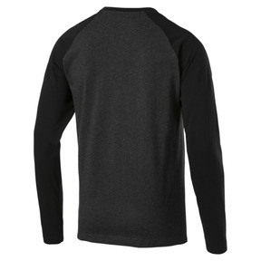 Thumbnail 3 of Essentials+ Longsleeve T-Shirt, Dark Gray Heather, medium