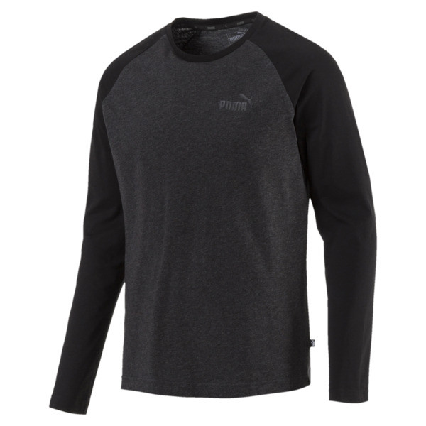 Essentials+ Longsleeve T-Shirt, Dark Gray Heather, large