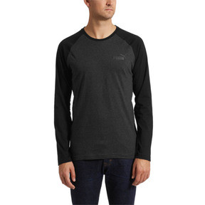 Thumbnail 2 of Essentials+ Longsleeve T-Shirt, Dark Gray Heather, medium