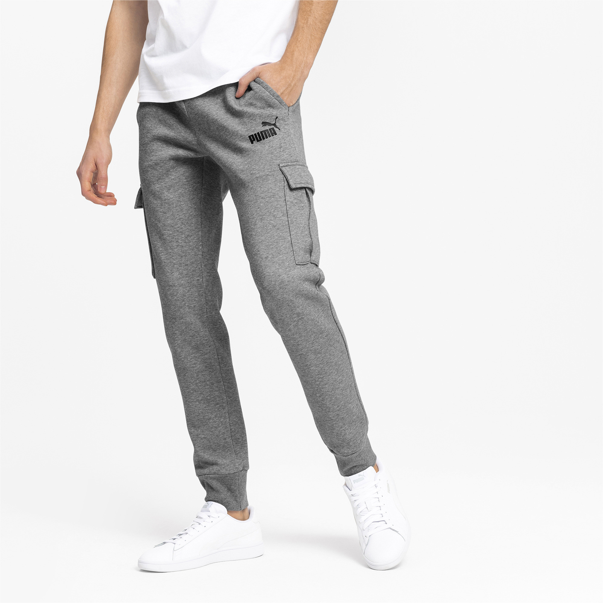 PUMA-Essentials-Men-039-s-Pocket-Pants-Men-Knitted-Pants-Basics thumbnail 4