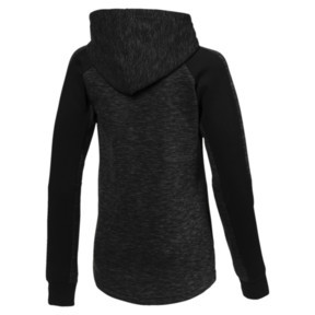 Thumbnail 2 of Evostripe Girls' Full Zip Top, Cotton Black, medium