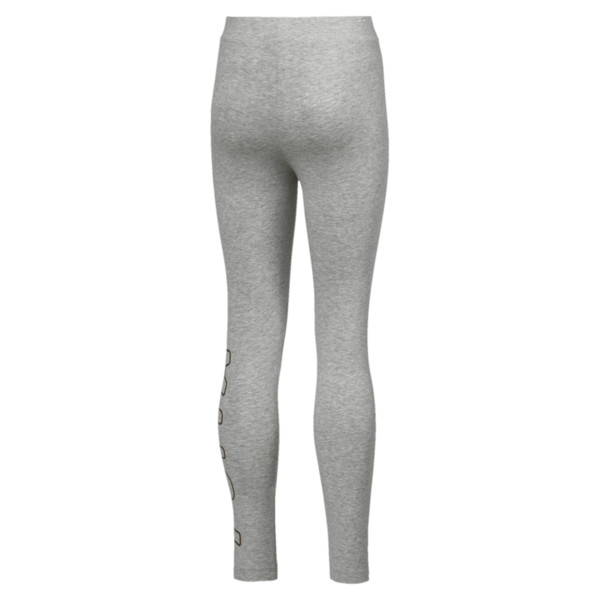 Style Girls' Leggings JR, Light Gray Heather, large