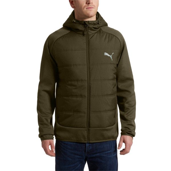 Hybrid Men's Padded Jacket, Forest Night, large