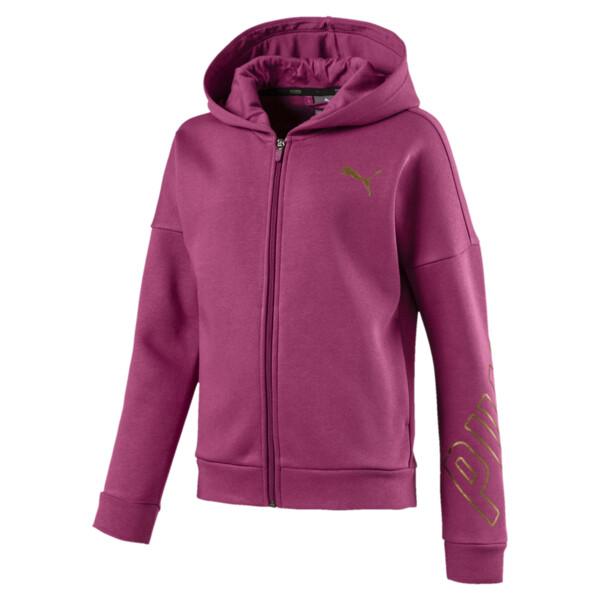 Style Full-Zip Girls' Hoodie, Magenta Haze, large
