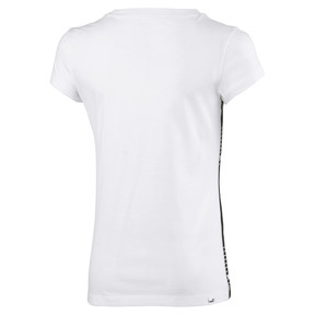 Thumbnail 2 of Tape Girls' Tee, Puma White, medium