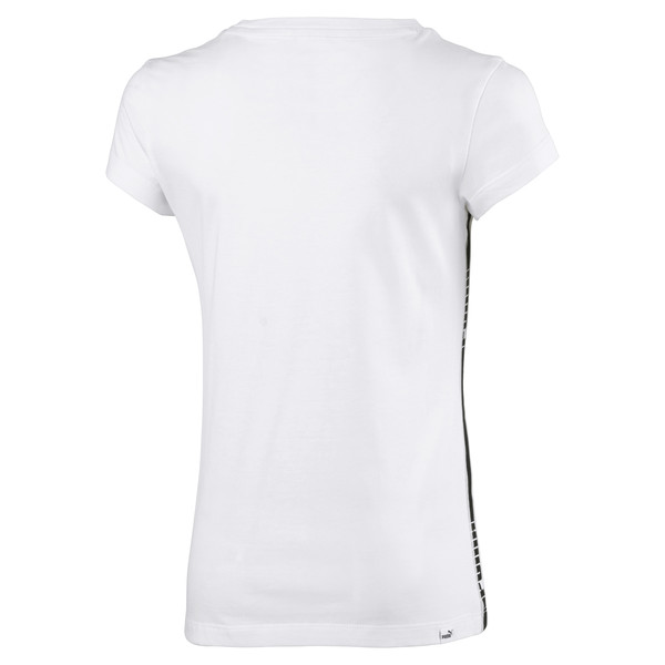 Tape Girls' Tee, Puma White, large