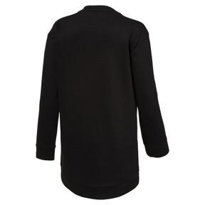 Thumbnail 2 of Style Girls' Long Crew Sweater, 01, medium