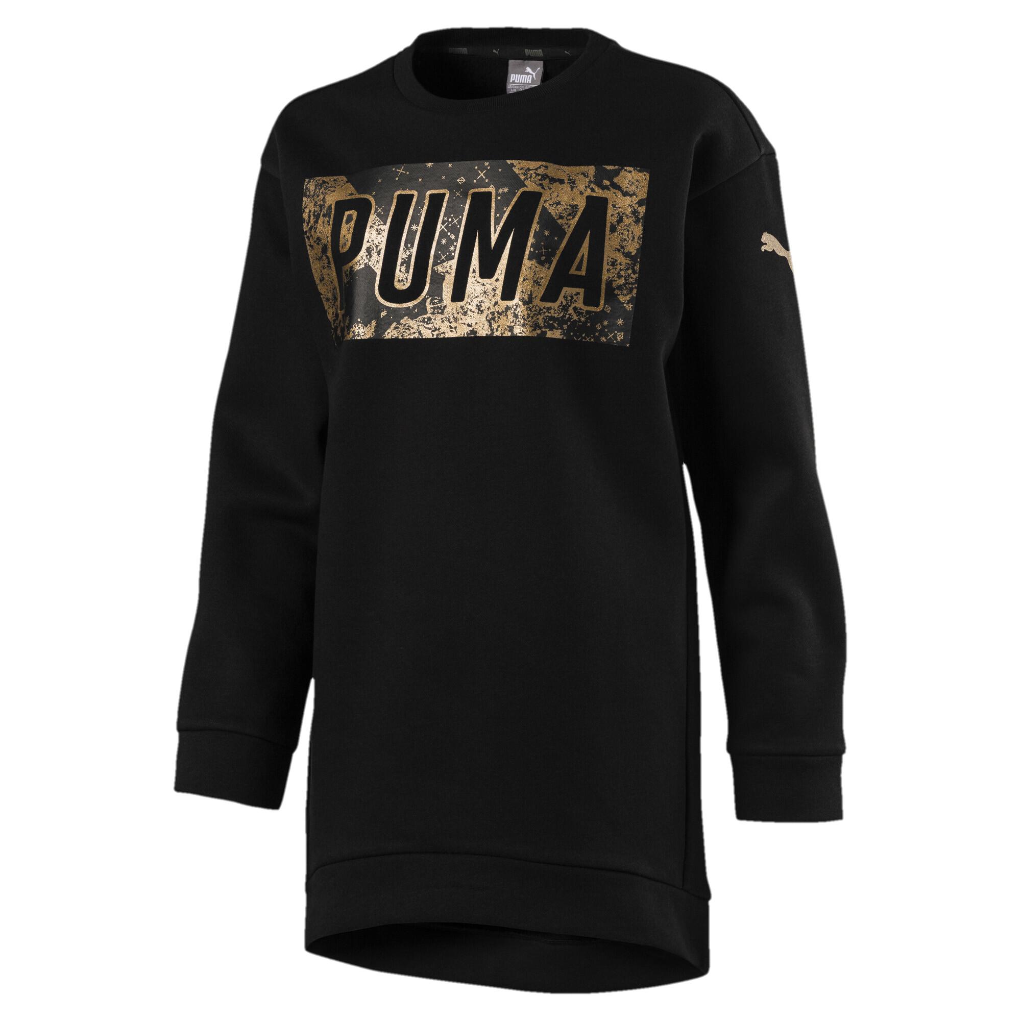 Image Puma Style Girls' Long Crew Sweater #1