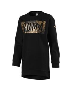 Image Puma Style Girls' Long Crew Sweater