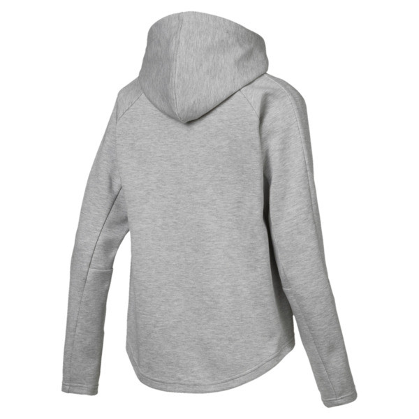 Active Women's Evostripe Core Full Zip Hoodie, Light Gray Heather, large