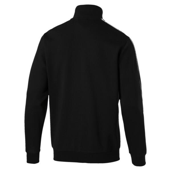 Tape Men's Track Jacket, Cotton Black, large