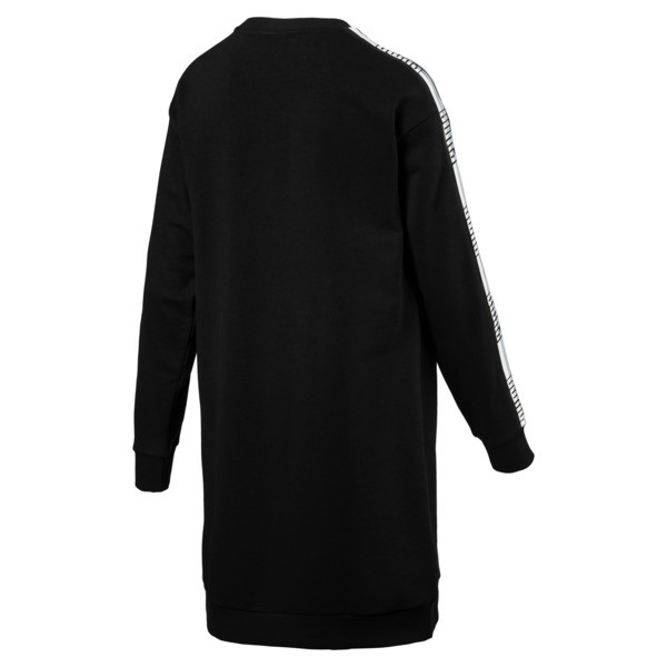 Tape Terry Women's Dress, Cotton Black, large