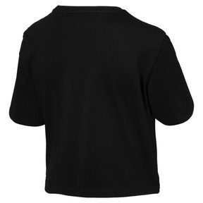 Thumbnail 5 of Essentials+ Cropped Women's Tee, Cotton Black, medium