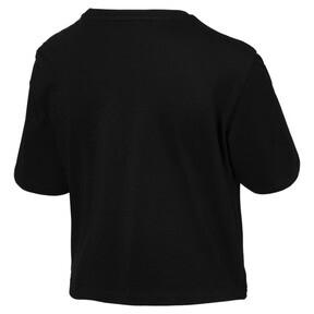 Thumbnail 3 of Women's Cropped Logo Tee, Cotton Black, medium