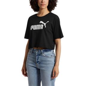 Thumbnail 1 of Women's Cropped Logo Tee, Cotton Black, medium