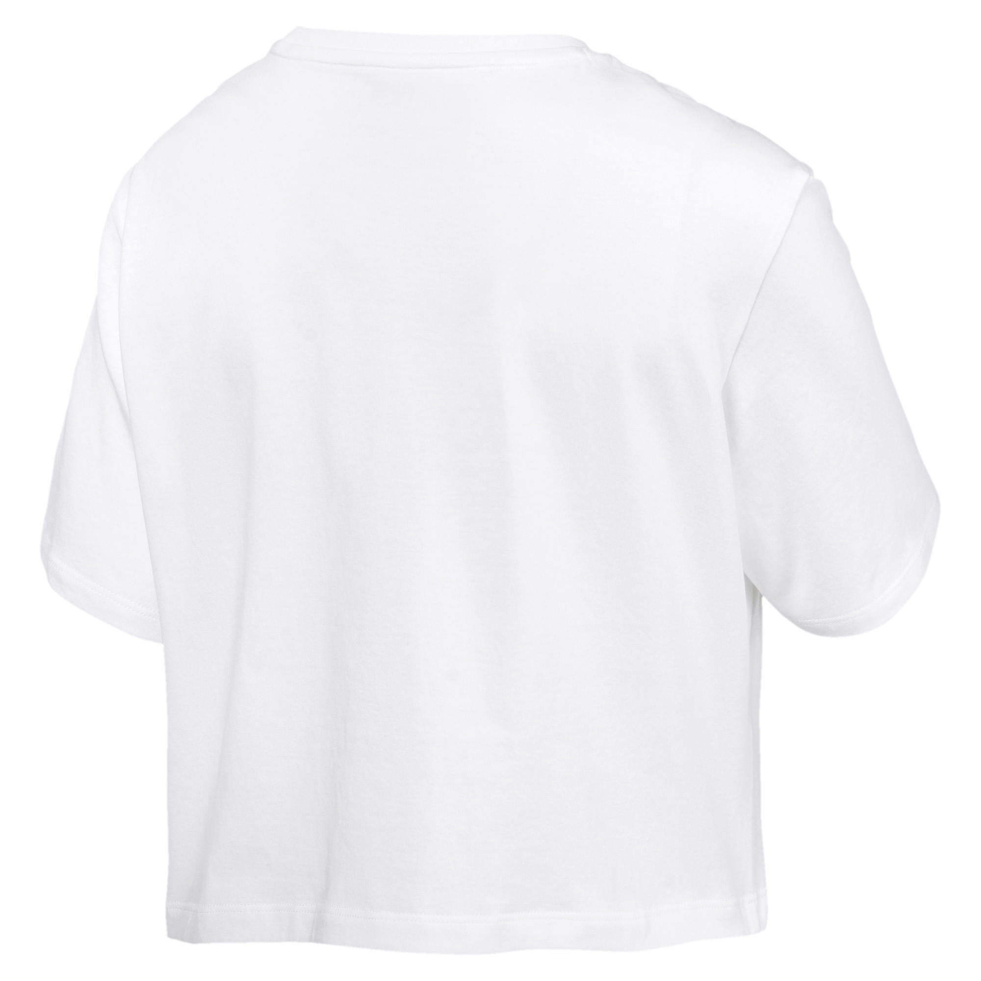 PUMA-Women-039-s-Cropped-Logo-Tee-Women-Crop-Top-Basics thumbnail 9