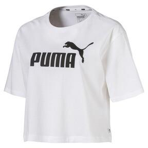 Thumbnail 4 of Damen Cropped Logo T-Shirt, Puma White, medium
