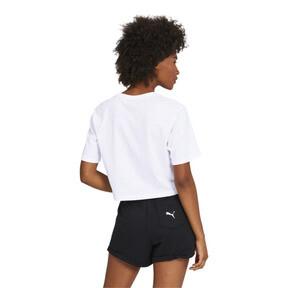 Thumbnail 2 of Damen Cropped Logo T-Shirt, Puma White, medium