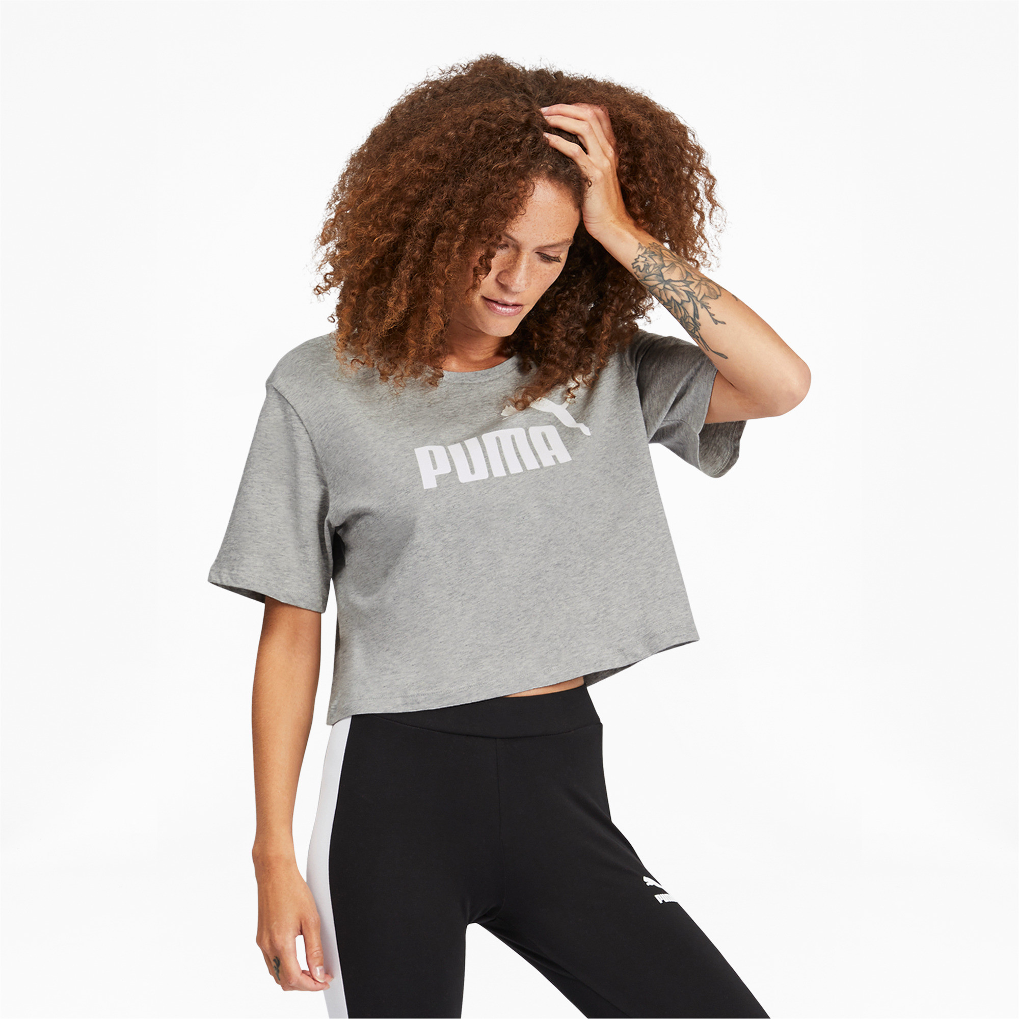 PUMA-Women-039-s-Cropped-Logo-Tee-Women-Crop-Top-Basics thumbnail 5