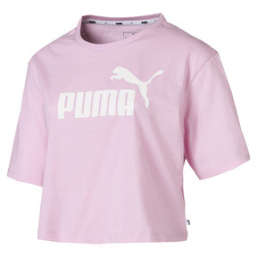 Thumbnail 4 of Essentials+ Cropped Women's Tee, Pale Pink, medium