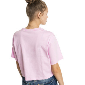 Thumbnail 2 of T-Shirt Cropped Logo pour femme, Pale Pink, medium