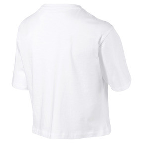 Miniatura 5 de Camiseta corta con logo para mujer, Puma White, mediano