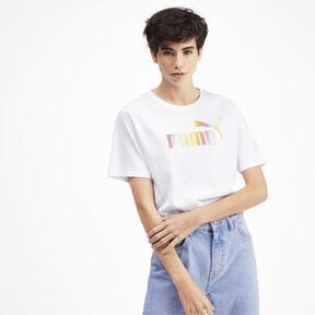 Miniatura 2 de Camiseta corta con logo para mujer, Puma White, mediano