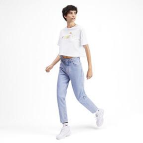 Miniatura 4 de Camiseta corta con logo para mujer, Puma White, mediano