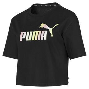 Camiseta corta con logo para mujer