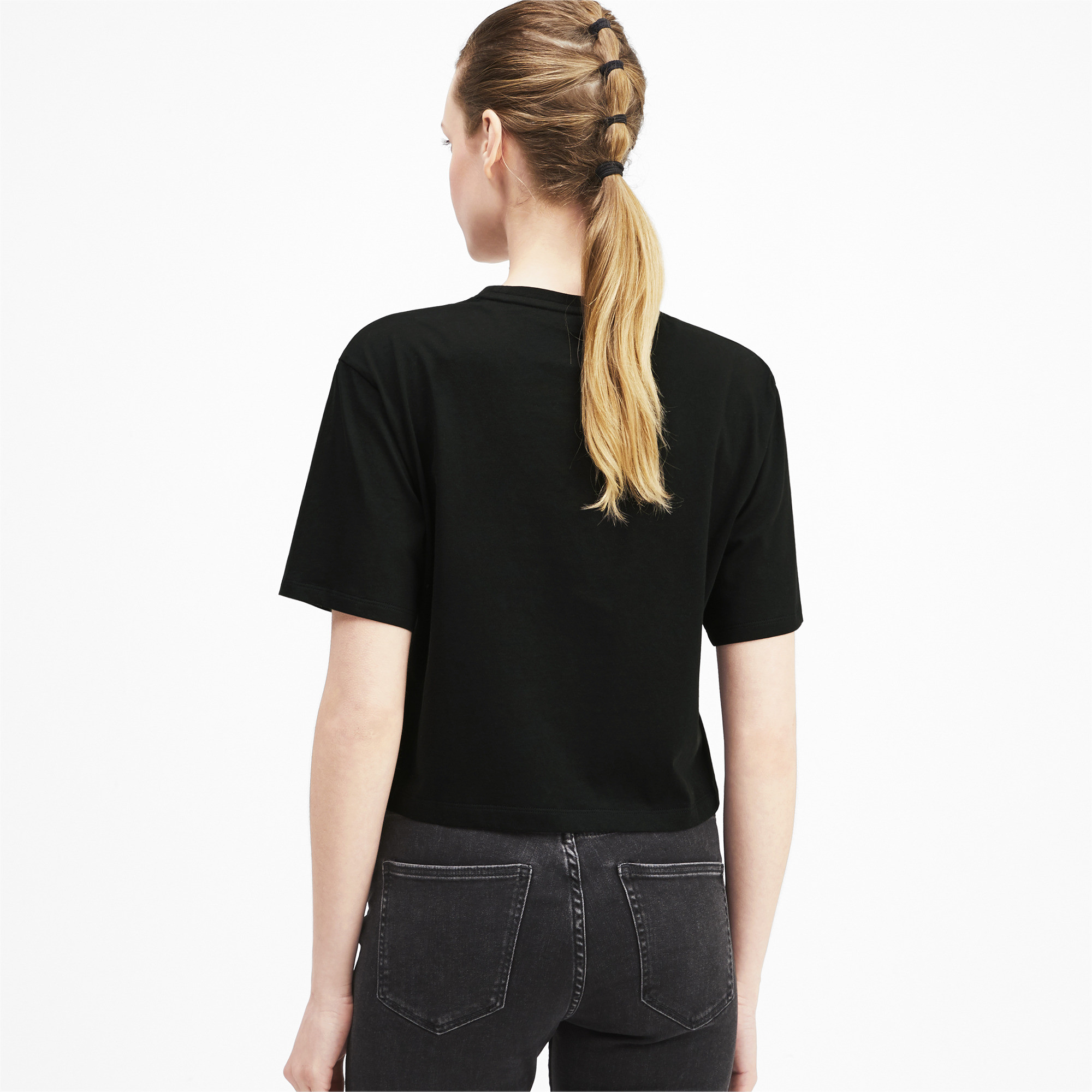 PUMA-Women-039-s-Cropped-Logo-Tee-Women-Crop-Top-Basics thumbnail 17