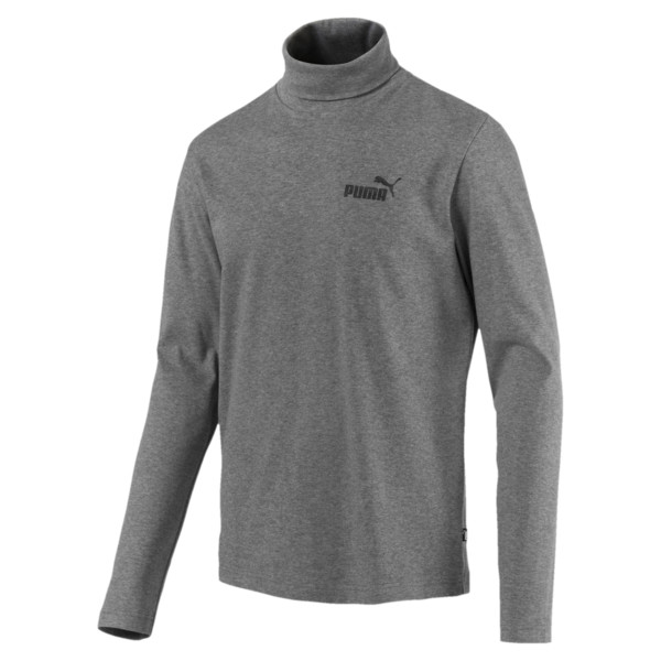 Men's Turtleneck Sweater, Medium Gray Heather, large