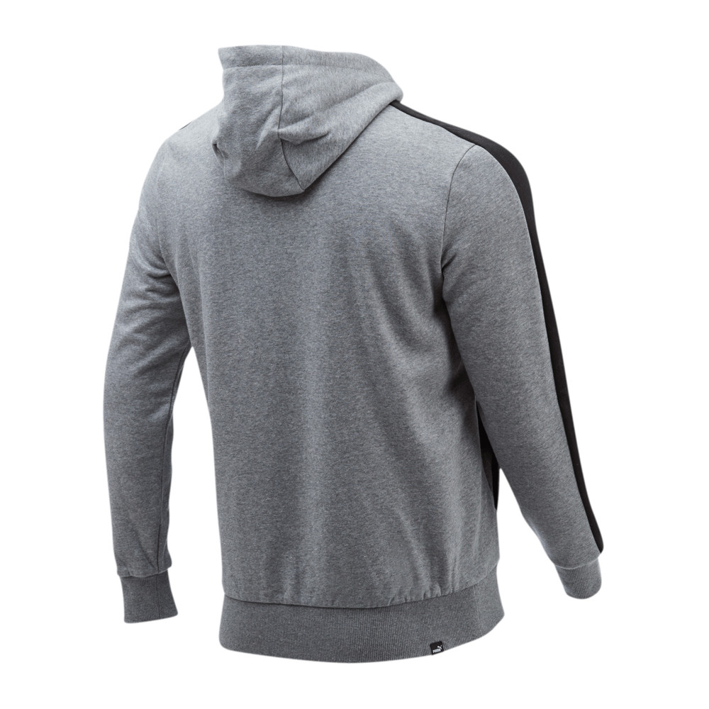 PUMA - female - Толстовка Contrast FZ Hoody FL  – Medium Gray Heather –, Серый