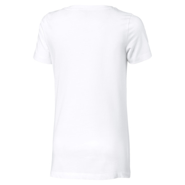 T-Shirt Classics Logo pour fille, Puma White-Pale pink, large