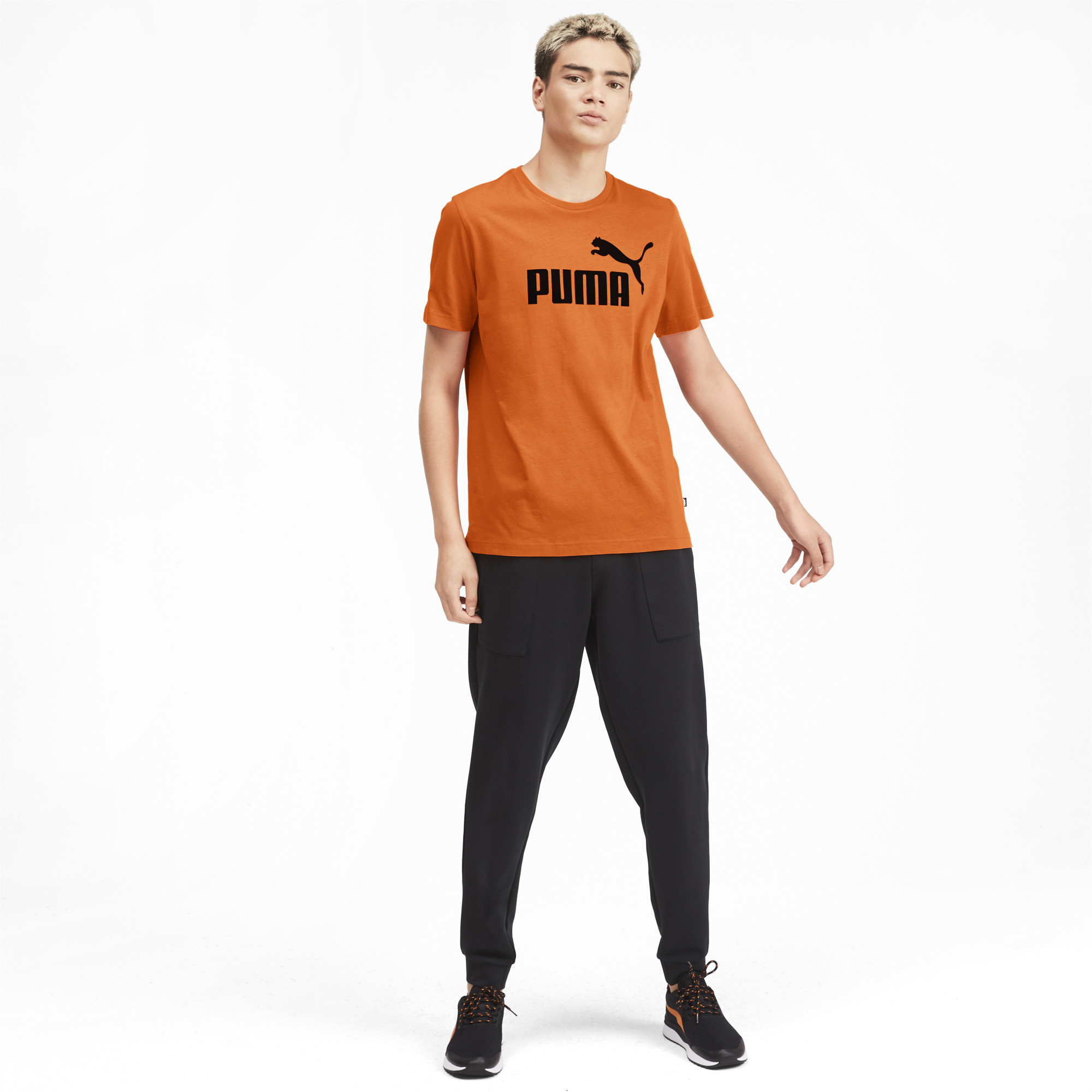 PUMA-Essentials-Men-039-s-Logo-Tee-Men-Tee-Basics thumbnail 6