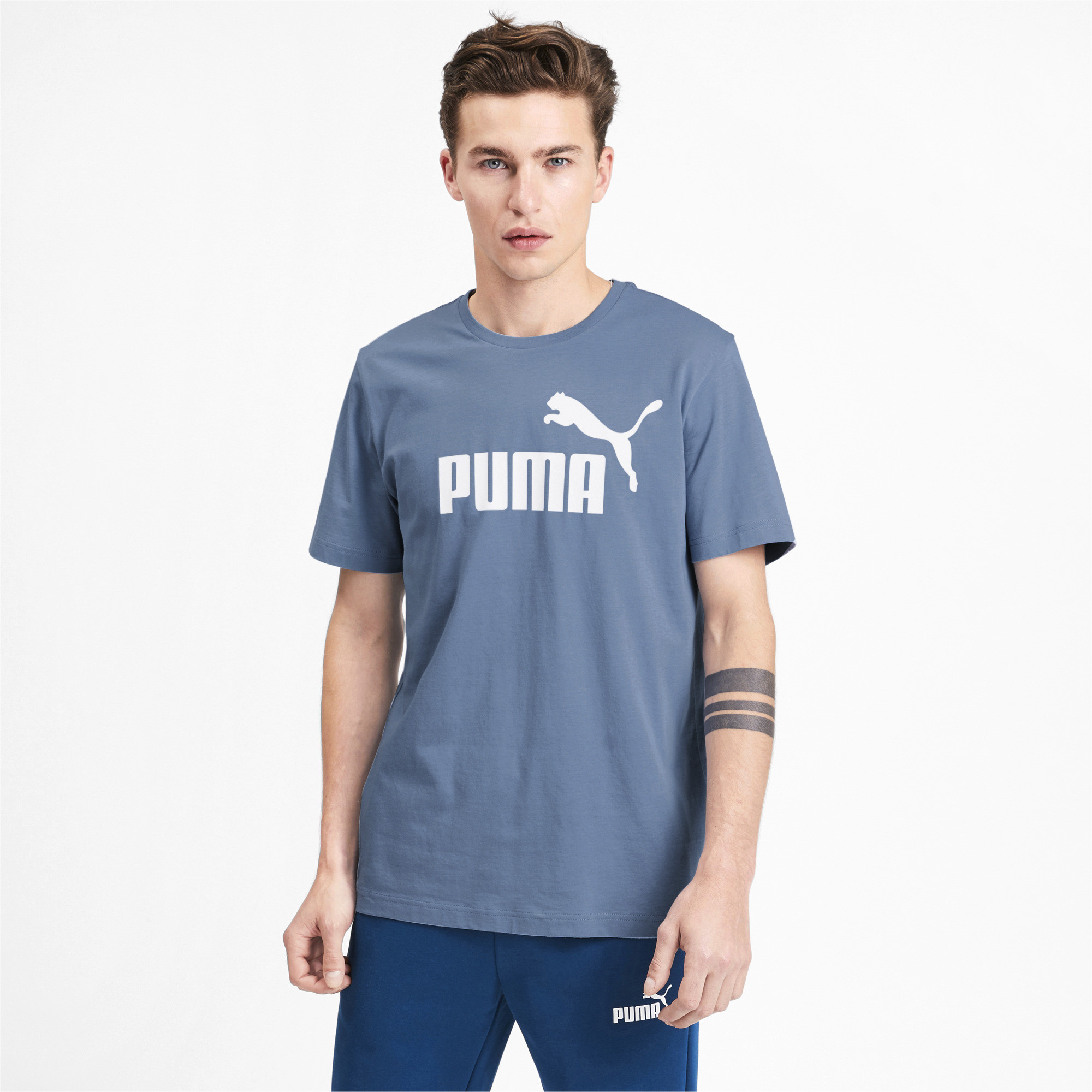 PUMA-Essentials-Men-039-s-Logo-Tee-Men-Tee-Basics thumbnail 9