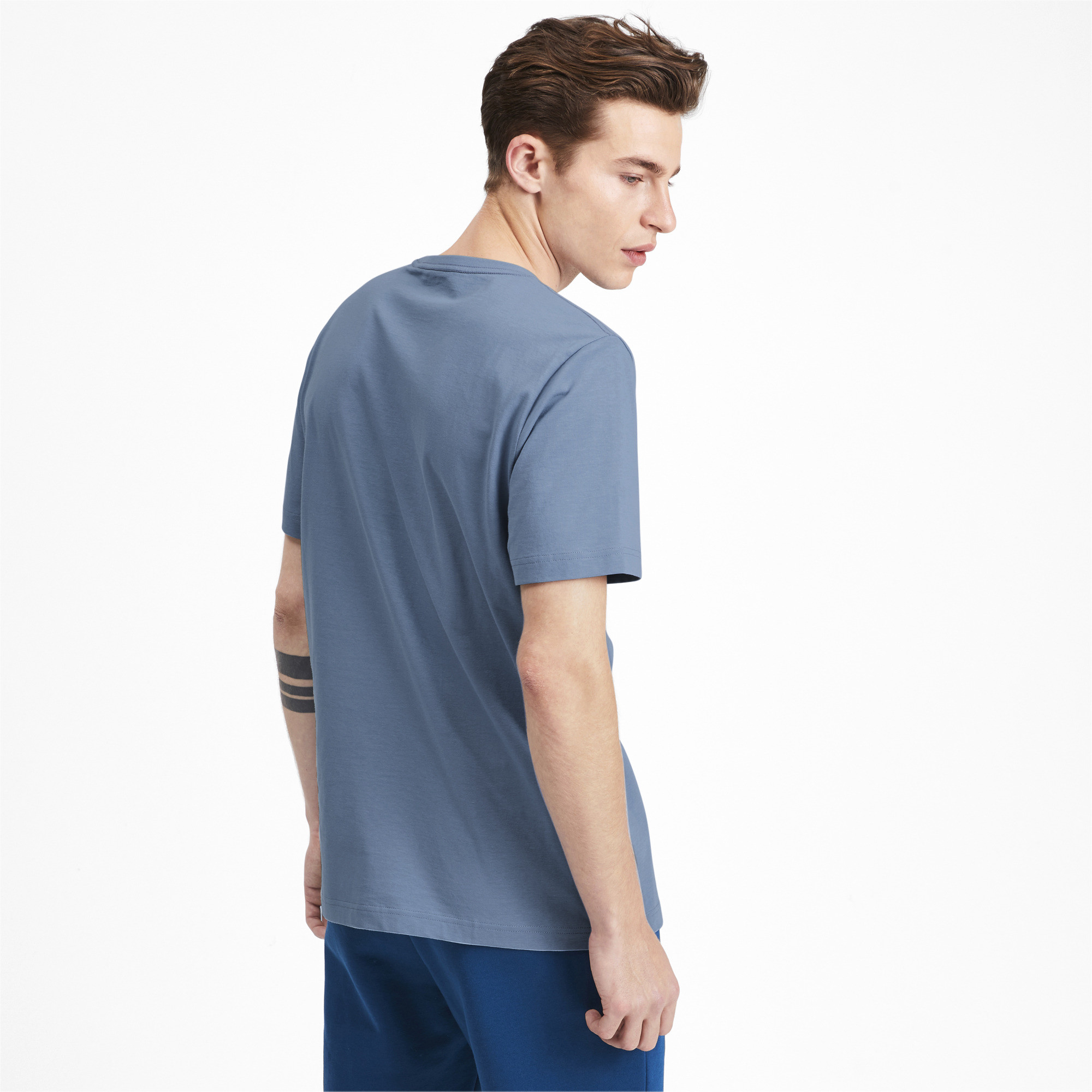 PUMA-Essentials-Men-039-s-Logo-Tee-Men-Tee-Basics thumbnail 10