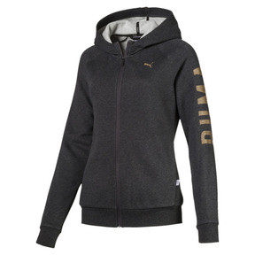 Thumbnail 1 of ATHLETIC Full-Zip Hoodie, DarkGrayHeather-BronzeMedal, medium