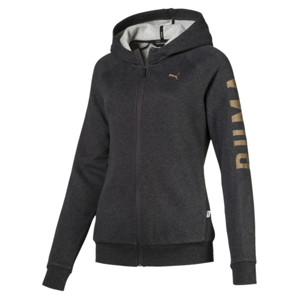 ATHLETIC Full-Zip Hoodie, DarkGrayHeather-BronzeMedal, large