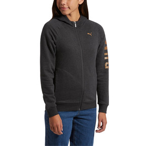 Thumbnail 2 of ATHLETIC Full-Zip Hoodie, DarkGrayHeather-BronzeMedal, medium