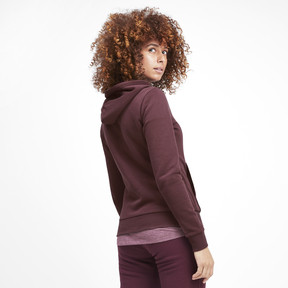 Thumbnail 3 of Essentials Women's Fleece Hoodie, Vineyard Wine, medium