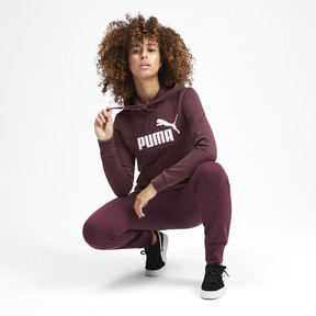 Thumbnail 4 of Essentials Women's Fleece Hoodie, Vineyard Wine, medium