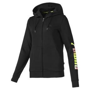 Thumbnail 1 of Essentials Women's Hooded Fleece Jacket, Puma Black, medium